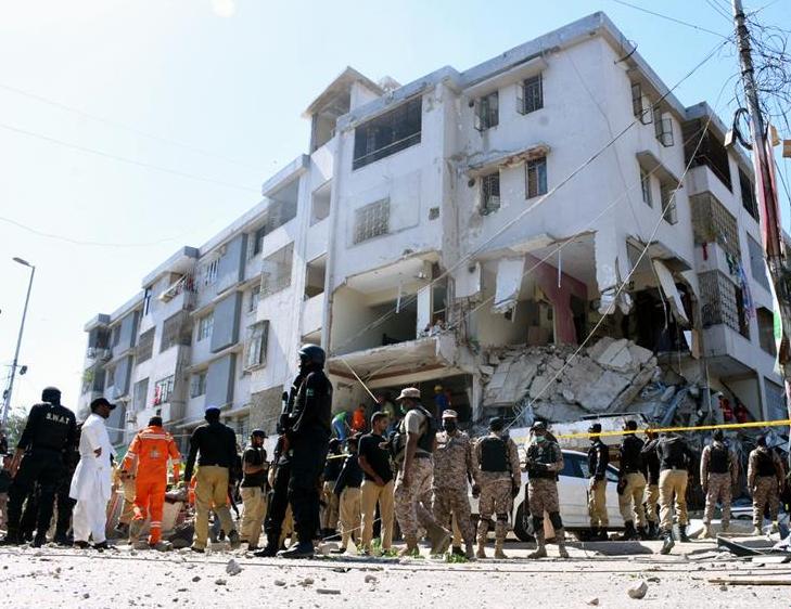 巴基斯坦南部一四层建筑物发生爆炸 致3死15伤