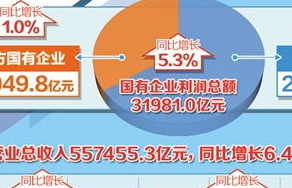 财政部:去年国企营收增长2.1% 利润总额达上年同期95.5%