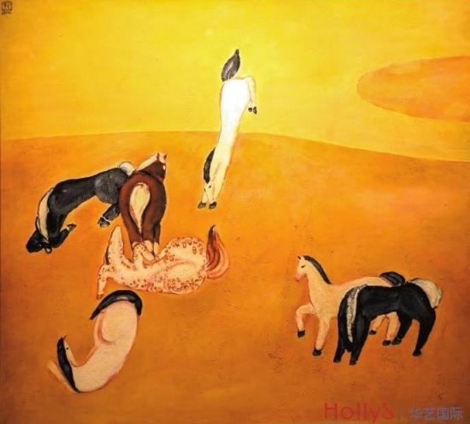 常玉油画《群马》2.07亿元成交 最贵的十件中国油画常玉独占其六