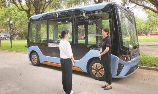 5G无人驾驶游览车 为市民提供真正的无人游览车游园服务