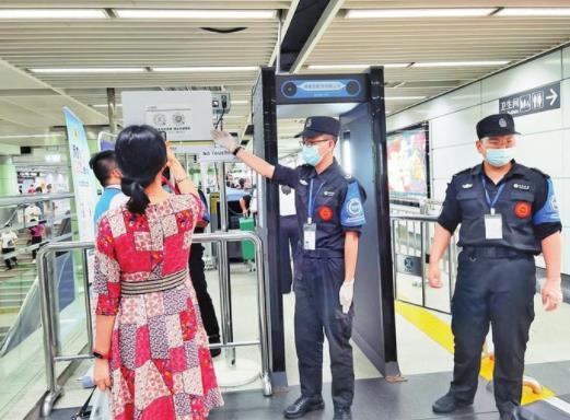 """因疫情防控需要 深圳地铁全线网所有车站实行""""验码进站"""""""