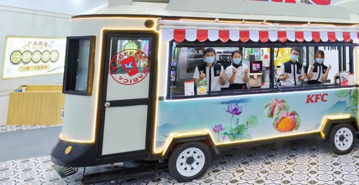 无动力餐车助力消费新场景 让美味近在身边